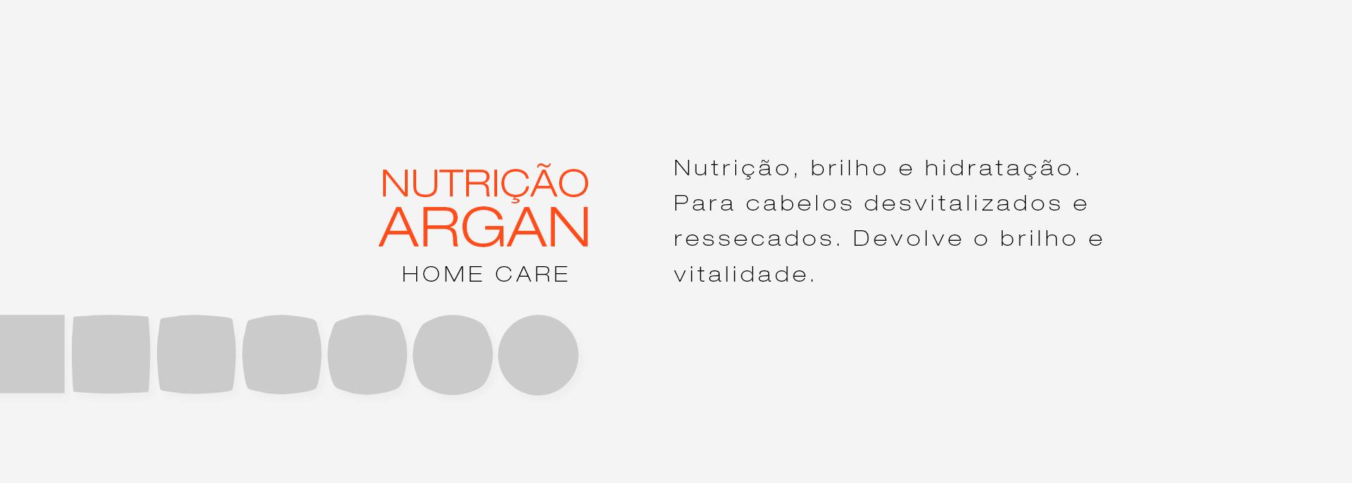 Categoria linha Nutrição Argan